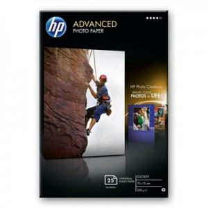 HP Q8691A - 25 feuilles de papier photo Advanced Glossy 250g/m² (10 x 15 cm)