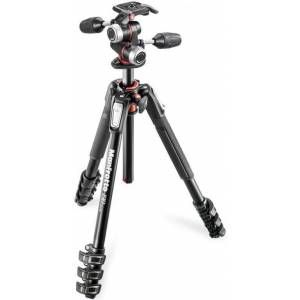 Manfrotto Kit 190 Trépied aluminium 4 sections + Rotule 3D (MK190XPRO4-3W)