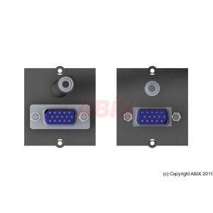 Plastron VGA+Jack pour bandeau multiprise