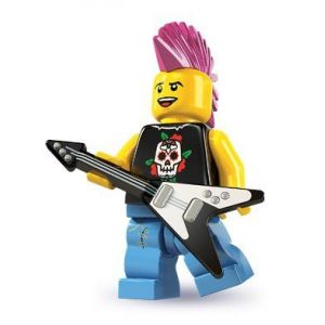 lego rocker punk mini figurine collectionner srie 4