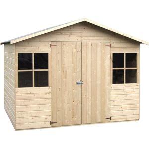 Decor et jardin 43631P000 - Abri de jardin en bois 12 mm 4,96 m2