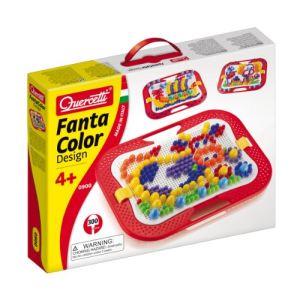Quercetti Jeu de mosaïques - Fantacolor Design 0900 (300 clous)