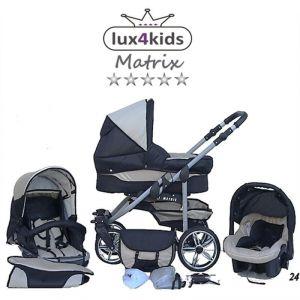 Chilly Kids Matrix 2 - Poussette combinée avec siège auto, chancelière et parasol