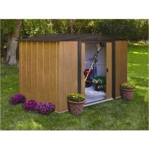 Chalet et Jardin BM 1012 - Abri de jardin en métal aspect bois 11,60 m2