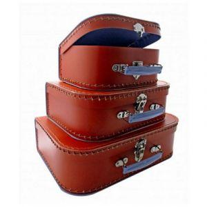 Petit Jour 00RE-MM - Valise en carton rouge écarlate moyen modèle