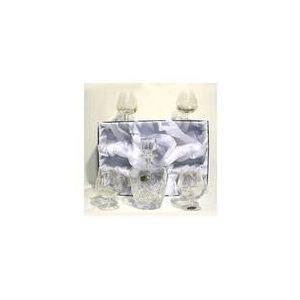 Cristal de paris Service cognac 7 pièces Diamant en cristal taillé main