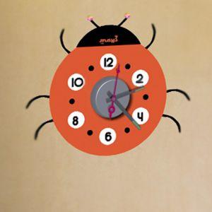 Horloge murale sticker Design Coccinelle