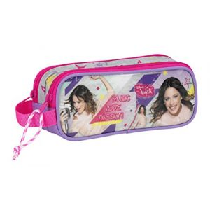 Trousse scolaire double compartiments  Violetta