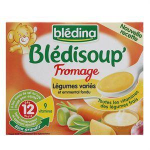 Blédina Blédisoup : Légumes variés et emmental fondu 2 x 250ml - dès 12 mois