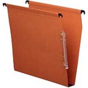 Esselte Boîte de 25 dossiers suspendus Kori pour armoire en kraft (fond : 30 mm)