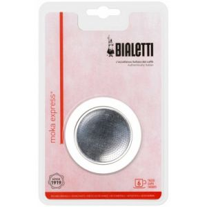 Bialetti 0109833 - Grille micro-filtre + 1 joints pour Moka induction 6 tasses