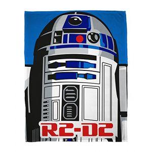 Sahinler Plaid polaire Star Wars R2D2 (120 x 150 cm)