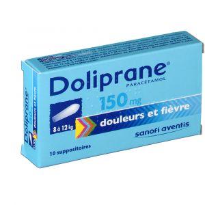 Sanofi Doliprane 150 mg -10 Suppositoires