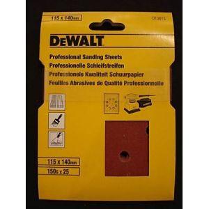 Dewalt DT3011 - 1/4 de Feuilles abrasives 140mm x 140mm 40G x25