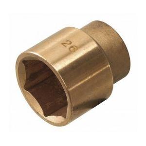 "KS Tools 967.1227 - Douilles 1/2"" 6 pans D.27mm L.40mm AL-BR antidéflagrant"
