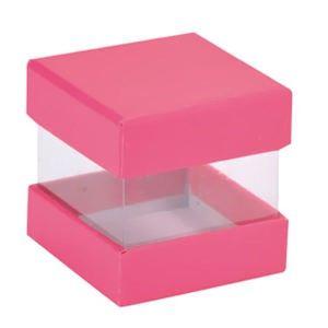 6 boîtes à dragées cube