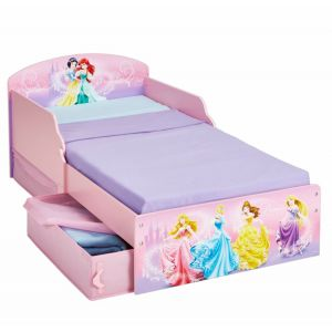Worlds Apart Lit Disney Princesses avec rangements (70 x 140 cm)