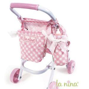La nina Sac poussette et sac porte-biberon pour poupon Anita (22 cm)