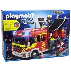 Playmobil 5363 City Action - Fourgon de pompier avec sirène et gyrophare