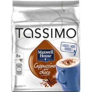 Tassimo 8 dosettes T-Discs Maxwell Cappucino/choco