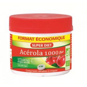 Super Diet Acérola 1000 bio -  60 comprimés à croquer