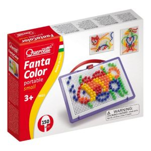 Quercetti Jeu de mosaïques - Fantacolor Portable Small (150 clous)