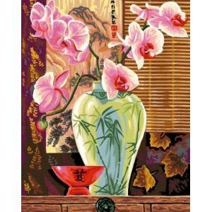 Oz international Peinture au numéro - Maxi : Orchidées