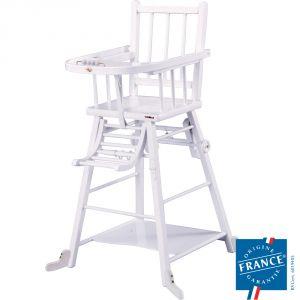 Combelle Marcel - Chaise haute à barreaux transformable laqué