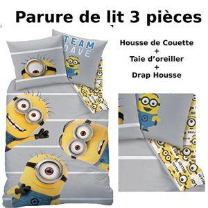 Parure de lit réversible Team Dave Les Minions (140 x 200 cm)
