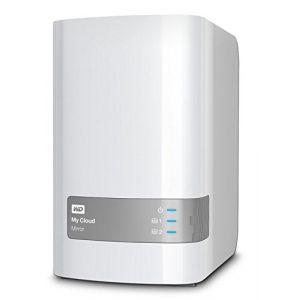 """Western Digital WDBWVZ0040JWT - Serveur NAS My Cloud Mirror 4 To 2 baies 3.5"""" Gigabit Ethernet"""