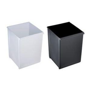 Helit H6104595 - Corbeille à papier carrée avec rebord (20 L)