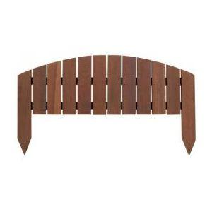 Intermas Gardening 170065 - Bordure Classic IPE à planter en bois Ipé 60 x 33 cm