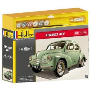 Heller 50762 - Maquette voiture : Renault 4 CV - Echelle 1:24