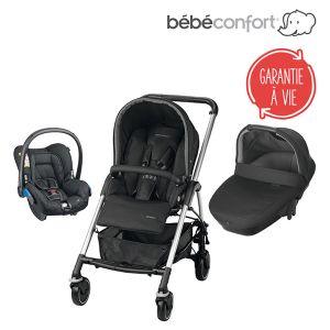 Bébé Confort Streety Amber - Combiné Trio avec poussette, nacelle et siège auto groupe 0+