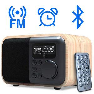 Wood-Box - Radio FM et enceinte Bluetooth stéréo