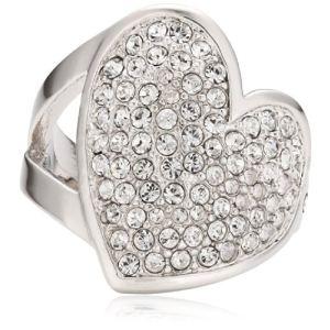 Guess UBR11401 - Bague surmontée d'un coeur serti de cristaux pour femme