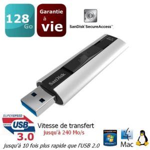 Sandisk SDCZ88-128G - Clé USB 3.0 Cruzer Extreme Pro 128 Go
