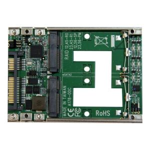 "StarTech.com 25SAT22MSAT - Adaptateur RAID double mSATA SSD vers SATA 2,5"""