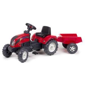 Falk Tracteur à pédales Ranch Trac avec remorque