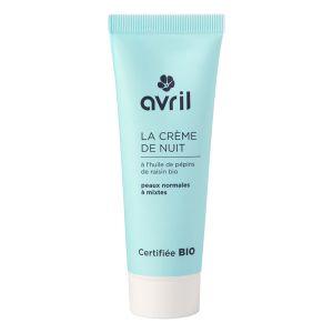 Avril Crème de nuit peaux normales et mixtes à l'huile de pépins de raisin
