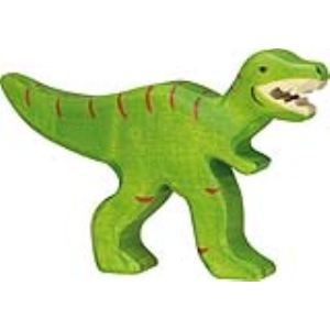 Holztiger Figurine dinosaure : Tyrannosaure en bois