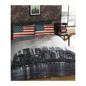 New York NYC - Housse de couette et 2 taies (200 x 200 cm)
