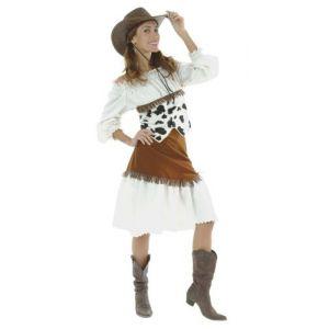Festiveo Déguisement Cow-Boy imprimé vache femme (taille 38-40)