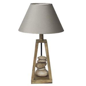 SEYNAVE Lampe à poser Georgia en bois 60 W