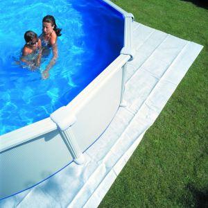 Gre MPROV730 - Tapis de sol pour piscine ovale hors sol 730 x 375 cm