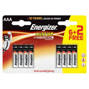 Energizer Ultra piles LR03 AAA 6+2 gratuites