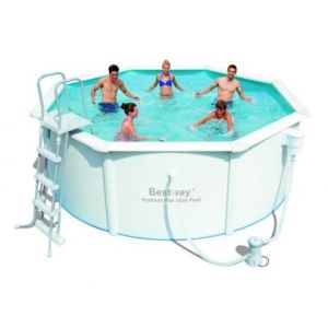 Bestway cara bes piscine tubulaire octogonale en acier for Piscine tubulaire octogonale