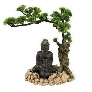 Zolux Décor Bouddha avec diffuseur d'air aqua nature