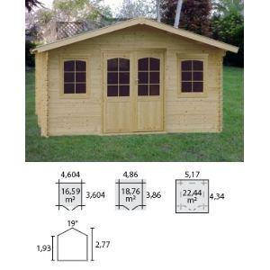 Decor et jardin 76758SZ00 - Abri de jardin en bois massif 34 mm 18,76 m2