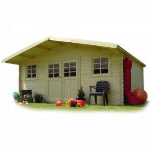Solid S8343 - Abri de jardin Vevey en bois 28 mm 22 m2